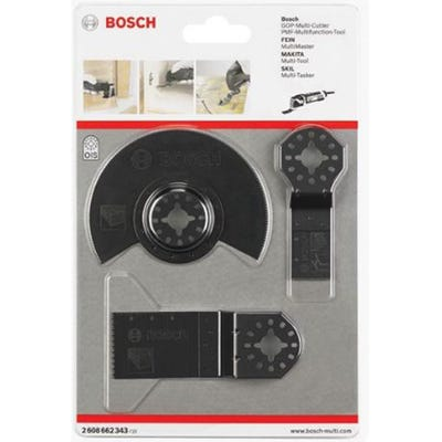 Bosch 3 Piece Multi-Tool Blade Set for Wood and Metal