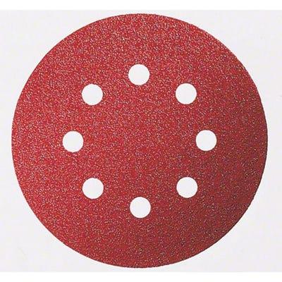Bosch Sanding Sheet For Wood Velcro 125mm 8 Hole G240 Pack of 5