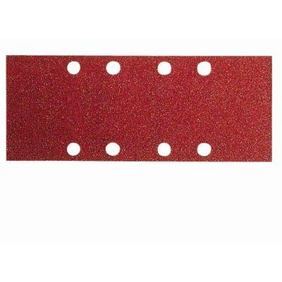 Bosch Sanding Sheet Orbsander Wood Velcro 93 x 186mm 8 Holes Pack of 10