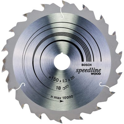 Bosch Circular Saw Blade Speedline Wood 150 x 2.2 x 20mm 18T