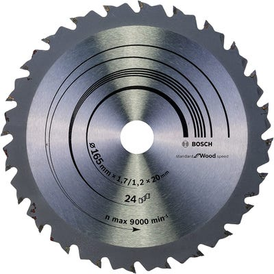 Bosch Circular Saw Blade Speedline Wood 165 x 1.7 x 20mm 24T