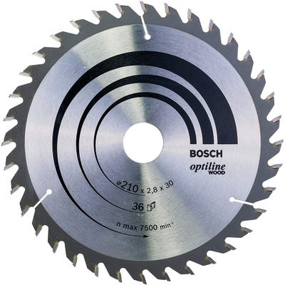 Bosch Circular Saw Blade Optiline Wood 210 x 2.8 x 30mm 36T