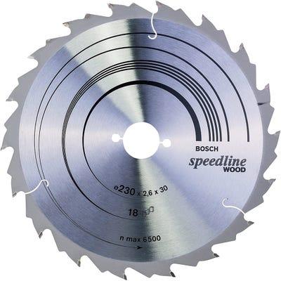 Bosch Circular Saw Blade Speedline Wood 230 x 2.6 x 30mm 18T