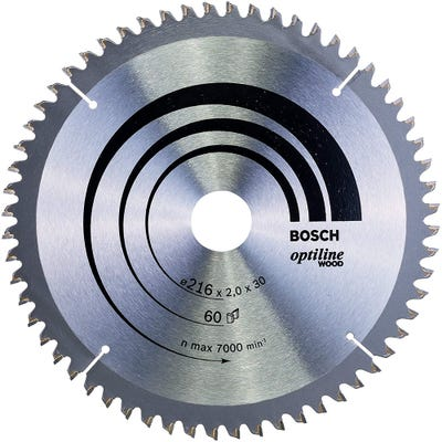 Bosch Circular Saw Blade Optiline Wood 216 x 2.0 x 30mm 60T