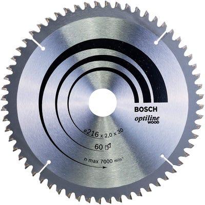 Bosch Circular Saw Blade Optiline Wood 216 x 2.0 x 30mm 60T