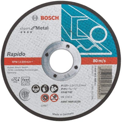 Bosch Metal Cutting Disc 115 x 1.0 x 22.23mm S