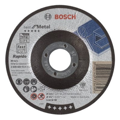 Bosch HPP Metal Cutting Disc 115 x 1.0 x 22.23mm D