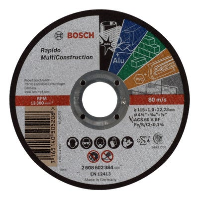 Bosch 115mm Multiconstruction Cutting Disc