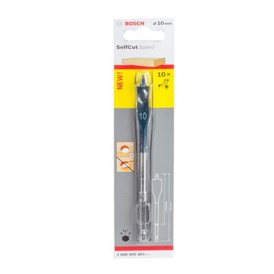 Bosch Flat Drill Bit Selfcut Speed Hex Shank 10 x 152mm