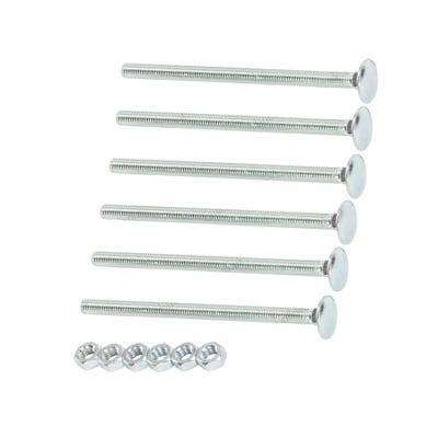 Speed Pro M6 X 100mm Cup Square Hex Bolt & Nut Pack of 6