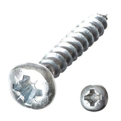 Speed Pro 4mm Diameter Round Head Steel Woodscrews Pack Of 25