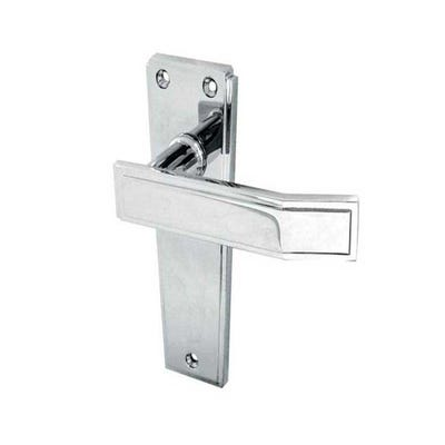 Frelan Deco Door Handle in Polished Chrome