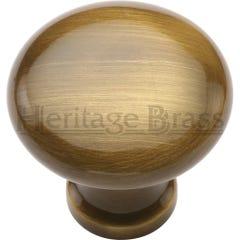 Heritage Brass Mushroom Cabinet Knob 32mm Antique Brass