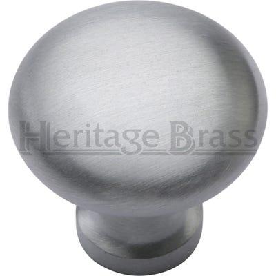 Heritage Brass Mushroom Cabinet Knob 32mm Satin Chrome