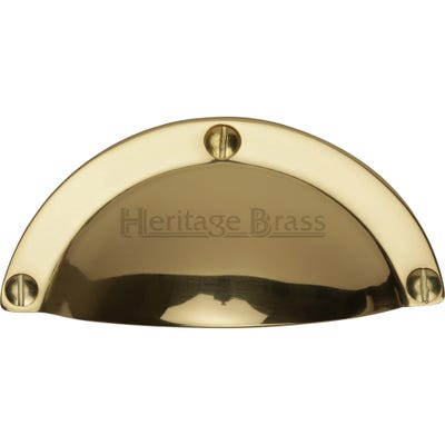 Heritage Brass Drawer Pull 97mm Polished Brass