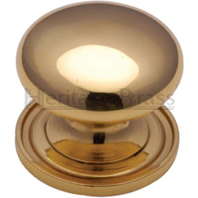Heritage Brass Cabinet Knob 25mm Polished Brass