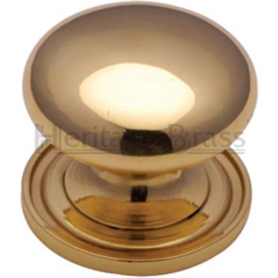 Heritage Brass Cabinet Knob 25mm Polished Brass