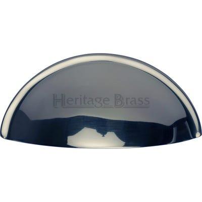 Heritage Brass Drawer Knob 82mm Polished Chrome
