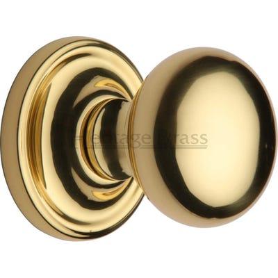Heritage Brass Hampstead Mortice Knob Polished Brass