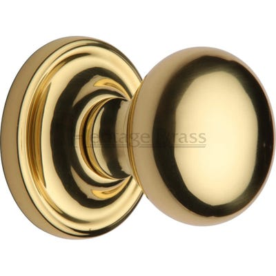 Heritage Brass Hampstead Mortice Knob Polished Brass