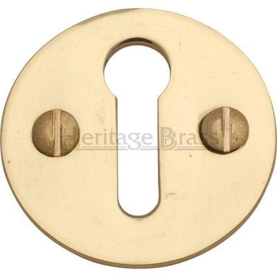 Heritage Brass Round Open Escutcheon Polished Brass (Each)