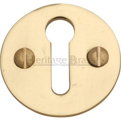 Heritage Brass Round Open Escutcheon Polished Brass (Each)