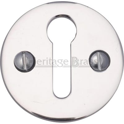Heritage Brass Round Open Escutcheon Polished Chrome (Each)