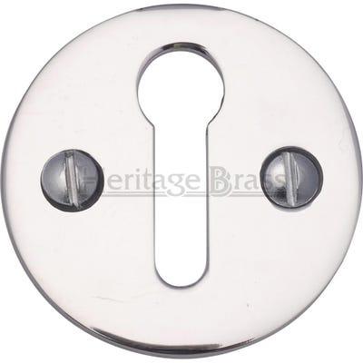 Heritage Brass Round Open Escutcheon Polished Chrome (Each)