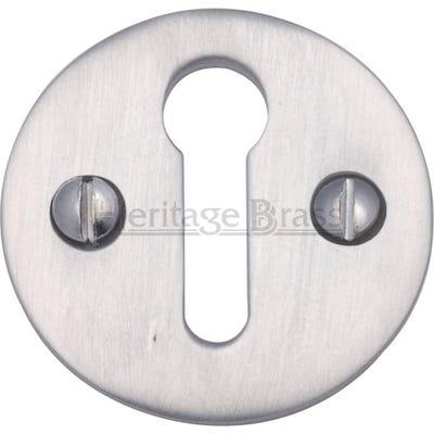 Heritage Brass Round Open Escutcheon Satin Chrome (Each)