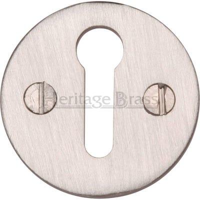 Heritage Brass Round Open Escutcheon Satin Nickel (Each)