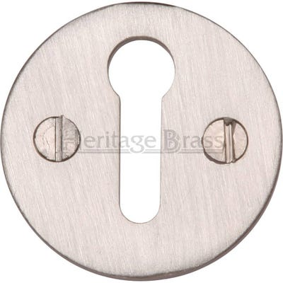 Heritage Brass Round Open Escutcheon Satin Nickel (Each)