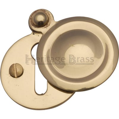 Heritage Brass Round Covered Escutcheon Polished Brass (Each)