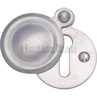Heritage Brass Round Covered Escutcheon Satin Chrome (Each)