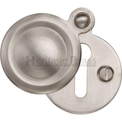 Heritage Brass Round Covered Escutcheon Satin Nickel (Each)