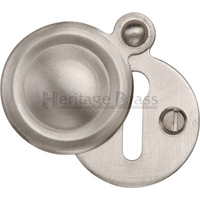 Heritage Brass Round Covered Escutcheon Satin Nickel (Each)