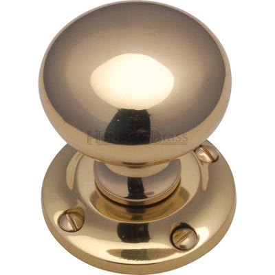 Heritage Brass Victoria Round Mortice Knob Polished Brass