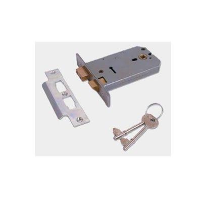Union Mortice Lock Horizontal 152mm Satin Chrome