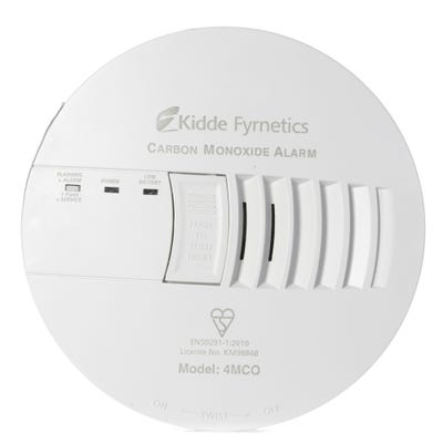Kidde Mains Powered Carbon Monoxide Alarm With Sealed Rechargeable Lithium Battery 4mCO