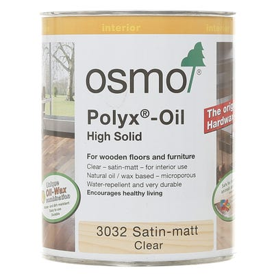 Osmo Polyx Original Hardwax Oil Clear Satin Matt 750ml