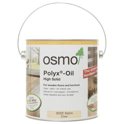 Osmo Polyx Original Hardwax Oil Clear Satin Matt 2.5L