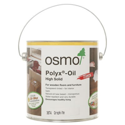 Osmo Polyx Hardwax Oil Tint Graphite 2.5L