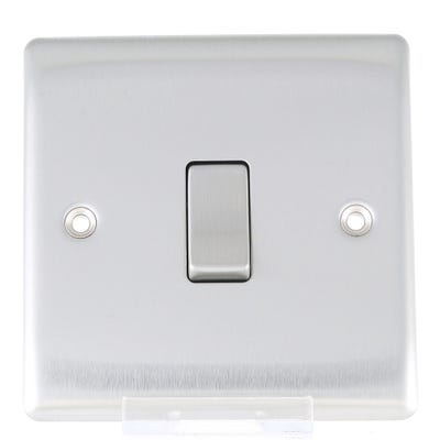BG Nexus 10A 10AX Intermediate Light Switch Brushed Steel NBS13-01