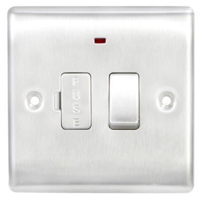 BG Nexus 13A Switched Fused Connection Unit with Neon Brushed Steel NBS52-01