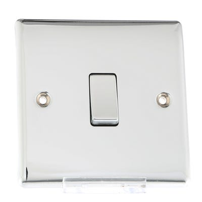BG Nexus 10A 1 Gang 2 Way Light Switch Polished Chrome NPC12-01