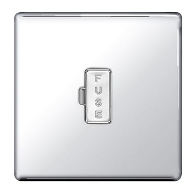 BG Nexus Screwless Flatplate 13A Unswitched Fused Connection Unit Polished Chrome FPC54-01