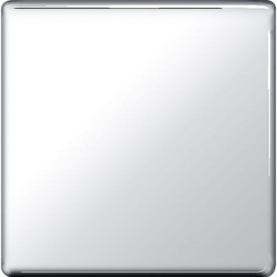 BG Nexus Screwless Flatplate 1 Gang Blanking Plate Polished Chrome FPC94-01