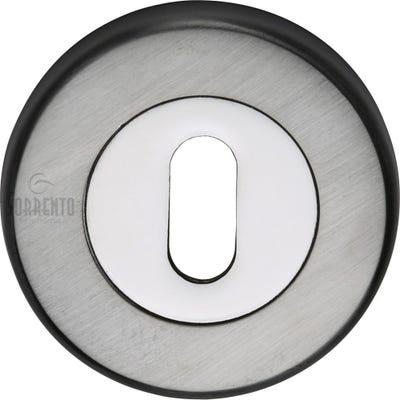 Sorrento Keyhole Escutcheon Satin & Polished Chrome (Each)