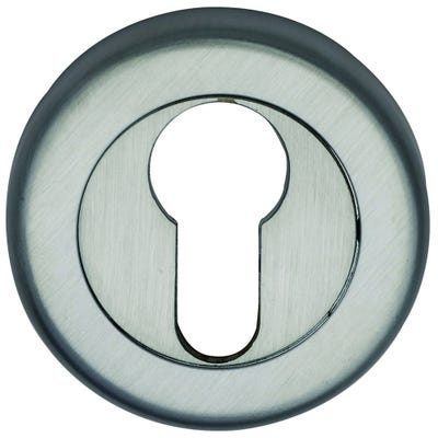 Sorrento Euro Escutcheon Satin Chrome (Each)