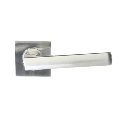 Sorrento Axis Handle on Square Rose in Satin Chrome