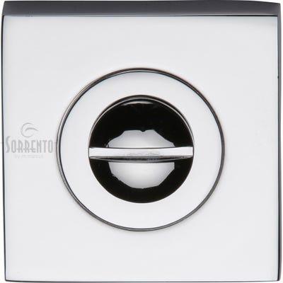 Sorrento Square Bathroom Turn & Release Polished Chrome